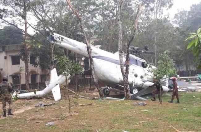 سقوط بالگرد حامل رییس ستاد ارتش کویت در بنگلادش