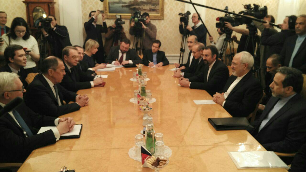 دیدار برجامی وزرای خارجه ایران و روسیه (+عکس)