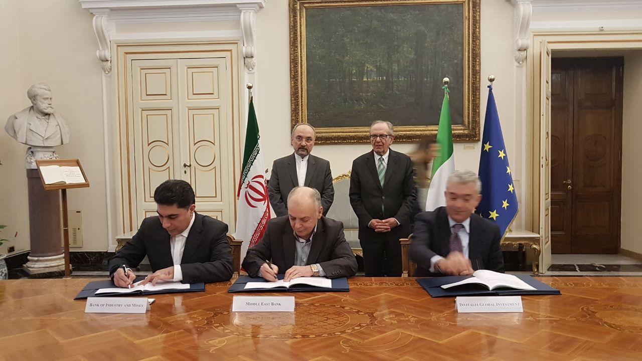 امضای قرارداد خط اعتباری 5 میلیارد یورویی بین ایران و ایتالیا