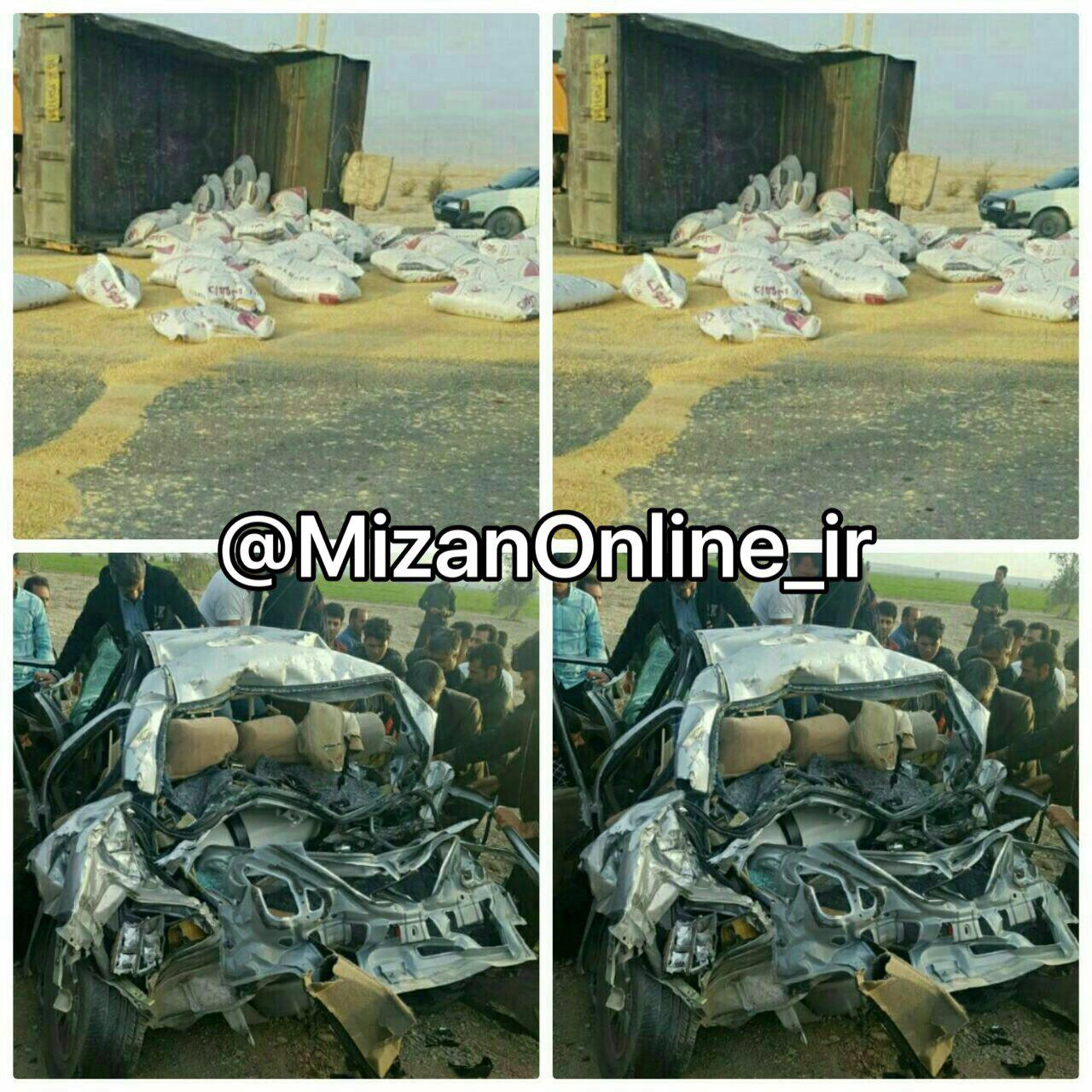 3 کشته در تصادف جاده «مهران» ایلام (+عکس)