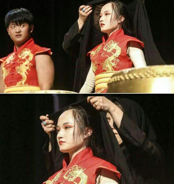 حجاب دردسرساز نوازنده زن چینی در تهران (+عکس)