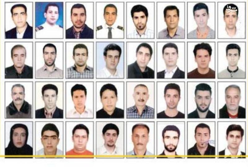 32 سرنشین و خدمه نفتکش ایرانی (عکس)