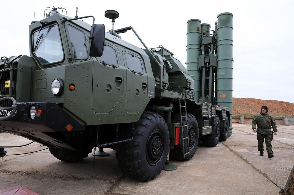 استقرار سامانه دفاعی اس400 روسی در بندر سواستوپول روسیه