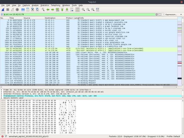 تاییدیه امنیت انتقال اطلاعات در اپلیکیشن ویسپی