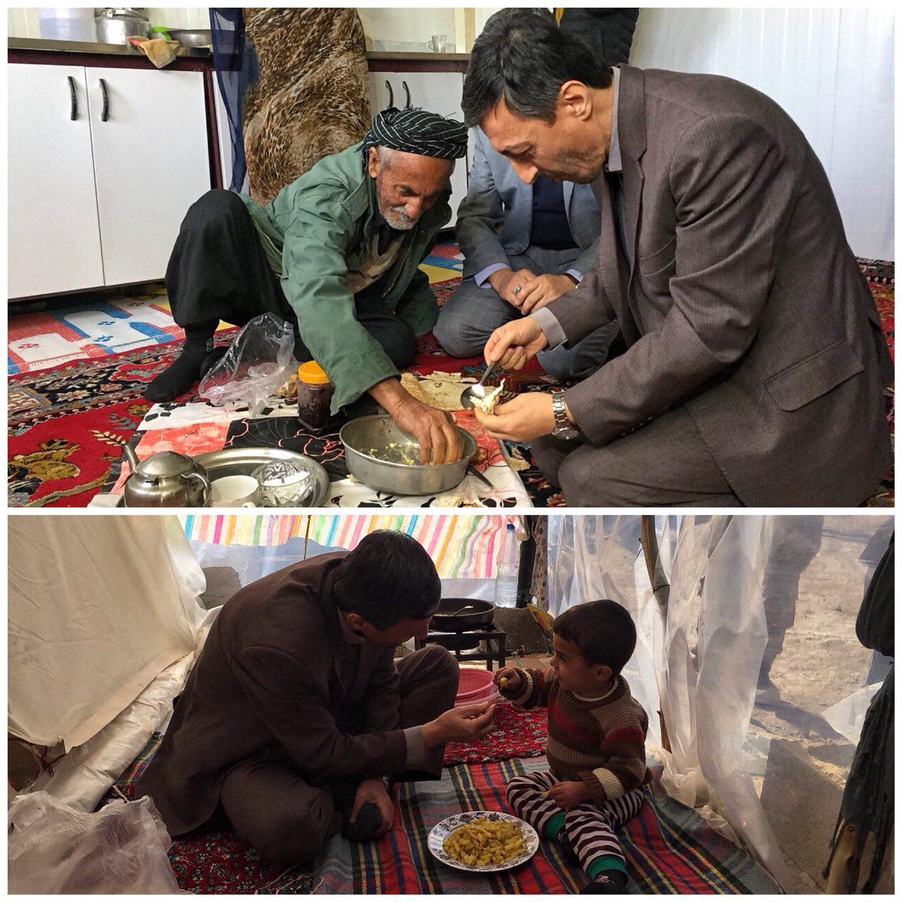 رئیس کمیته امداد همسفره زلزله زدگان کرمانشاه شد
