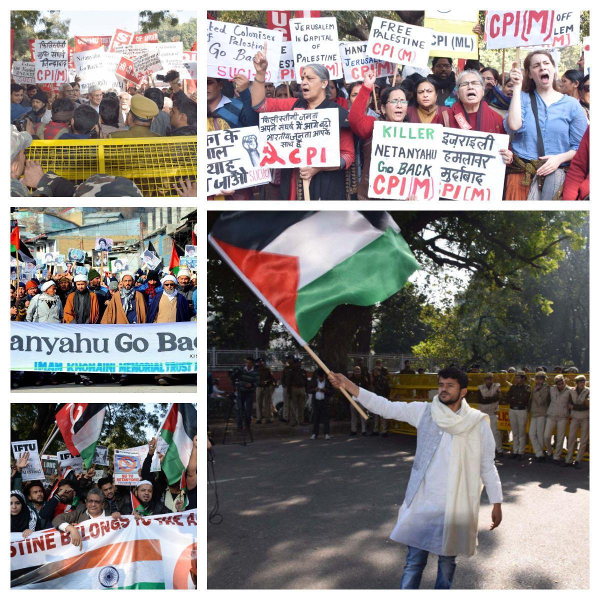 تظاهرات عليه سفر نتانياهو به هند/ پیام مردم هند: به خانه ات برگرد