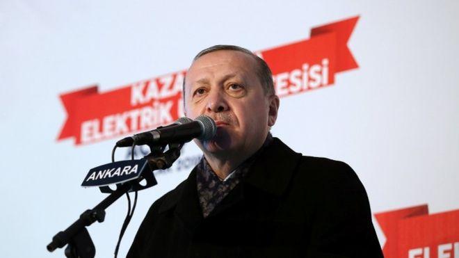 اردوغان: نیروی مرزبانی را که آمریکا میخواهد تشکیل دهد در نطفه خفه میکنیم