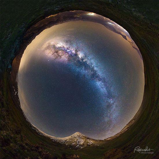 نمایی 360 درجه از قله دماوند (عکس)