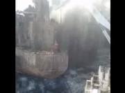 تصاویر تازه منتشر شده از عملیات در نفتکش سانچی (فیلم)
