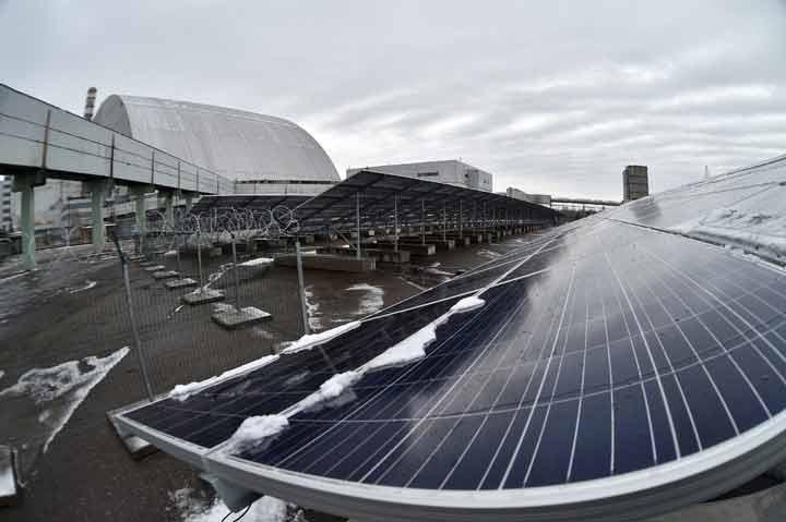 پایان ساخت یک نیروگاه خورشیدی در محل فاجعه چرنوبیل (+عکس)