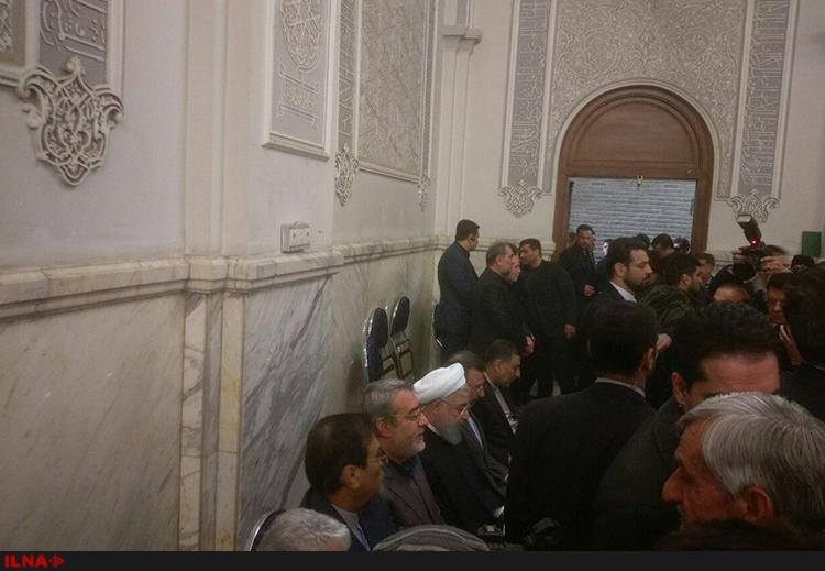 حضور روحانی در مراسم بزرگداشت شهدای نفتکش سانچی (عکس)