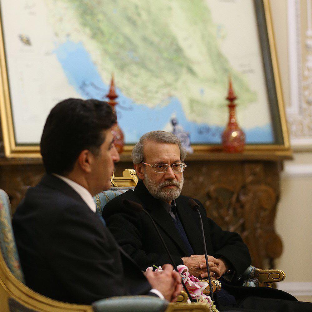 بارزانی با لاریجانی دیدار کرد (+عکس)