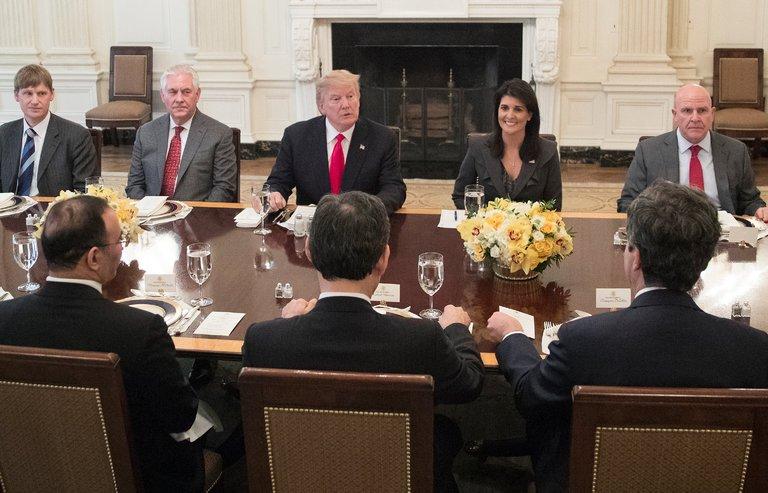 مهمانی ضد ایرانی ترامپ در کاخ سفید (+عکس)