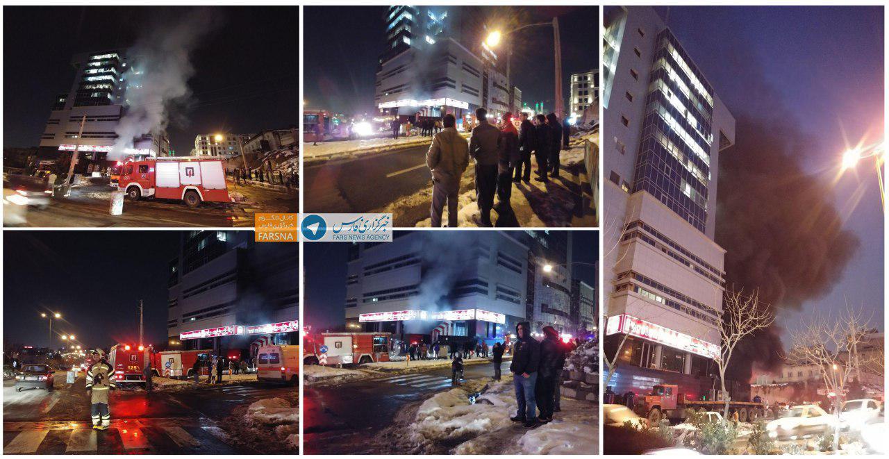 آتش سوزی مخزن گازوییل در شهرک غرب تهران/ حادثه مصدوم و تلفات جانی نداشت