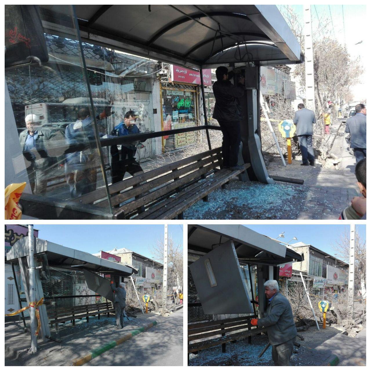 ایست قلبی راننده اتوبوس حادثه ساز شد (+عکس)