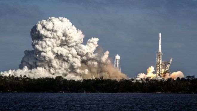 قوی ترین موشک شرکت اسپیس اکس راهی فضا شد (+عکس)