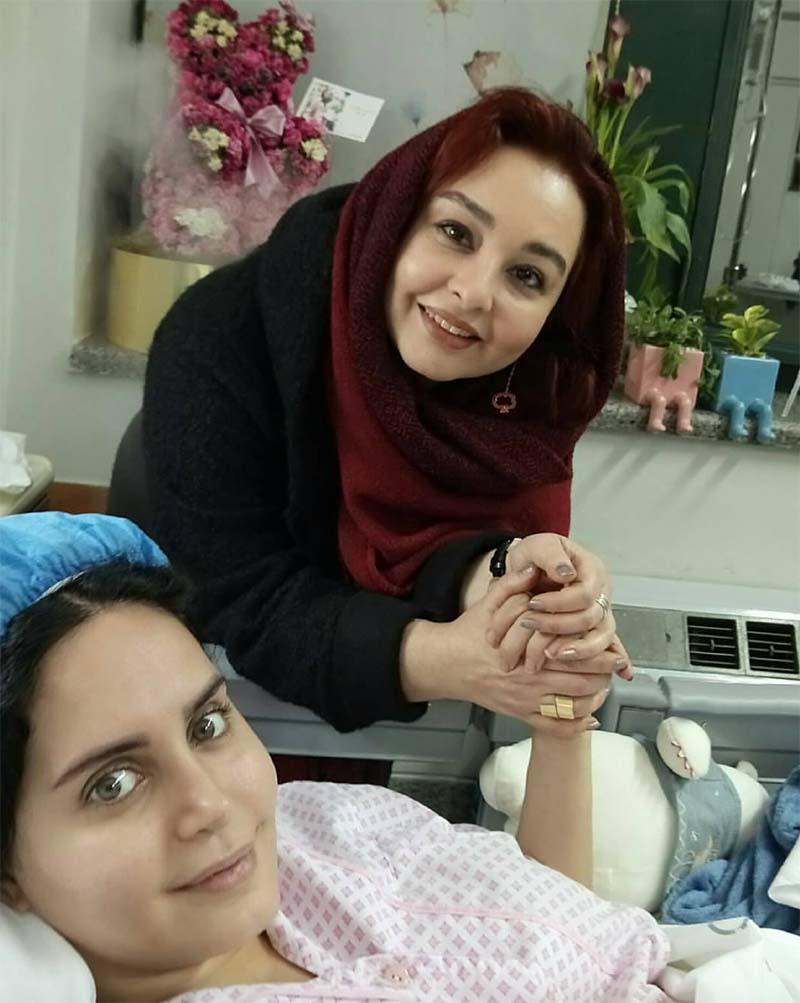 تلگرام یار عیادت ماهایا پطروسیان از الناز شاکردوست در بیمارستان