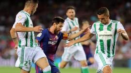 بتیس 0-5 بارسلونا / فاصله دورقمی با تعقیبکنندگان(+جدول)