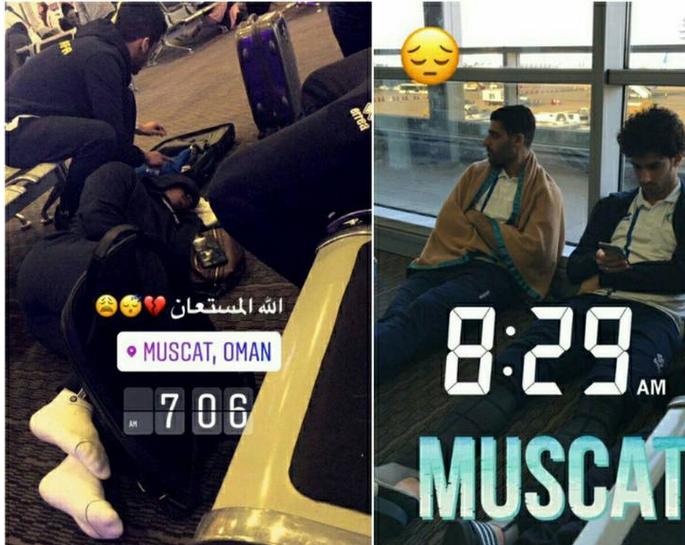 خوابیدن طارمی در فرودگاه مسقط (عکس)