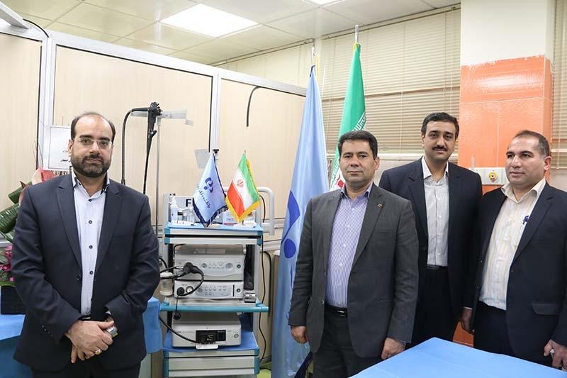 اهدای دستگاه آندوسونوگرافی به یک بیمارستان از سوی بانک رفاه