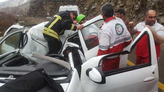 سقوط سنگ بر روی ال 90 یک کشته برجای گذاشت (+عکس)