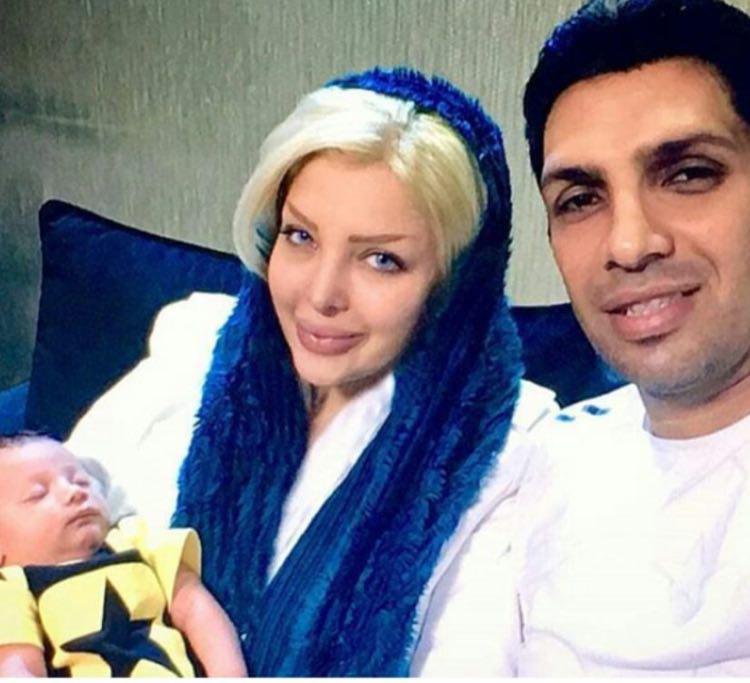 سپهر حیدری به همراه همسر و فرزندش (عکس)
