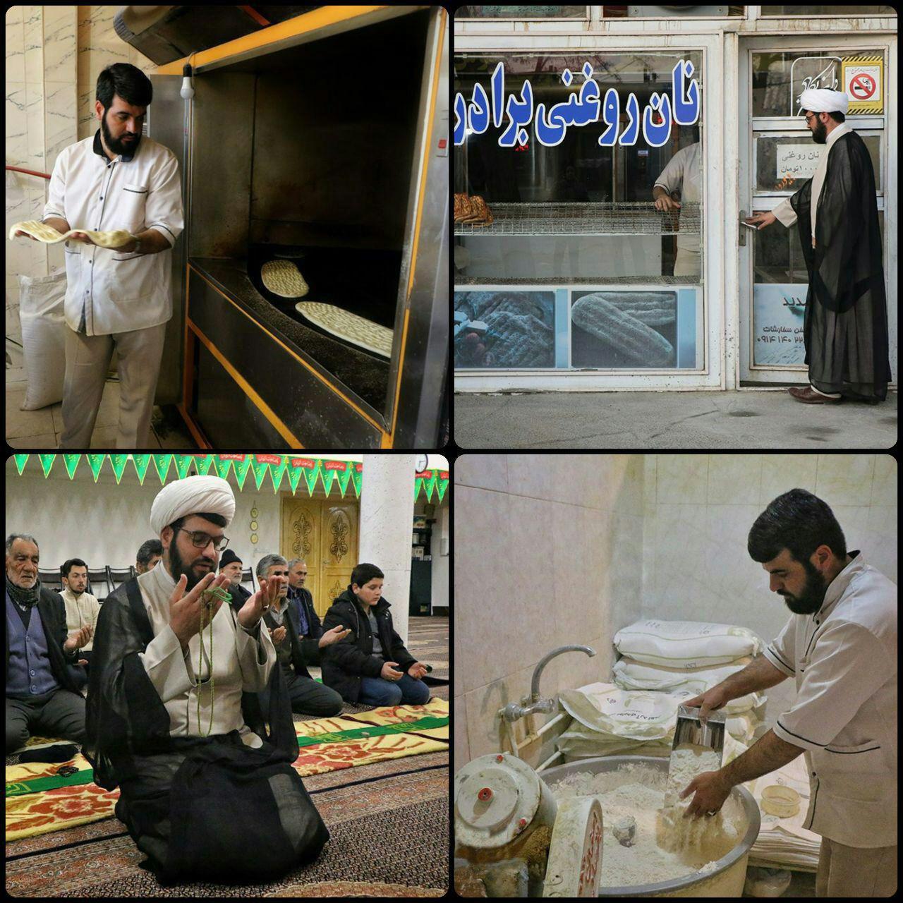 روحانی که روزها نانوا است (عکس)