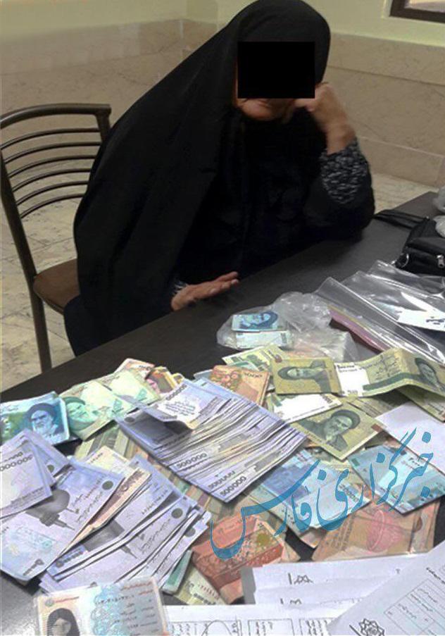 پیرزن گدای میدان تجریش که هنگام دستگیری 4 میلیون پول نقد داشت (+عکس)