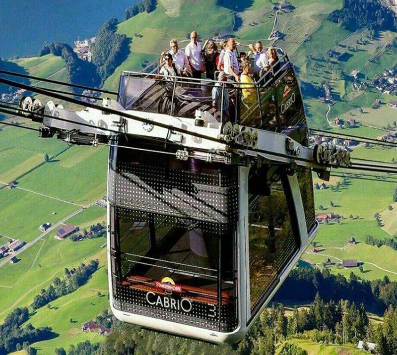 اولین تله کابین دوطبقه جهان در سوئیس (عکس)