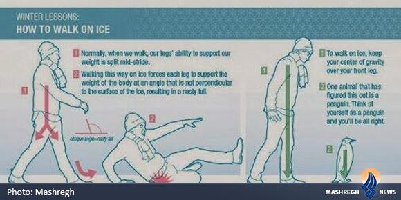 چگونه بر روی برف و یخ راه برویم و سر نخوریم؟