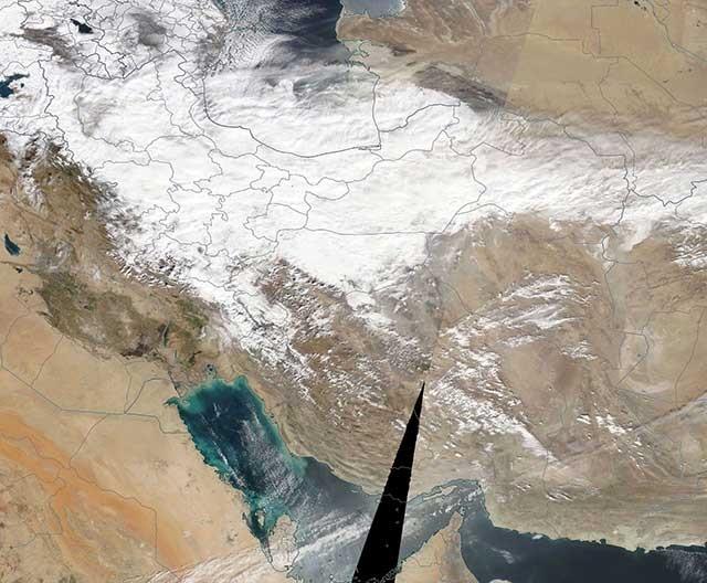 نصف ایران زیر برف/ گزارش ماهوارهای ناسا (عکس)