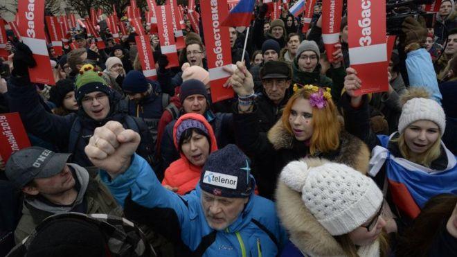 روسیه؛ تظاهرات هزاران حامی تحریم انتخابات و مخالفان پوتین / بازداشت 180 نفر