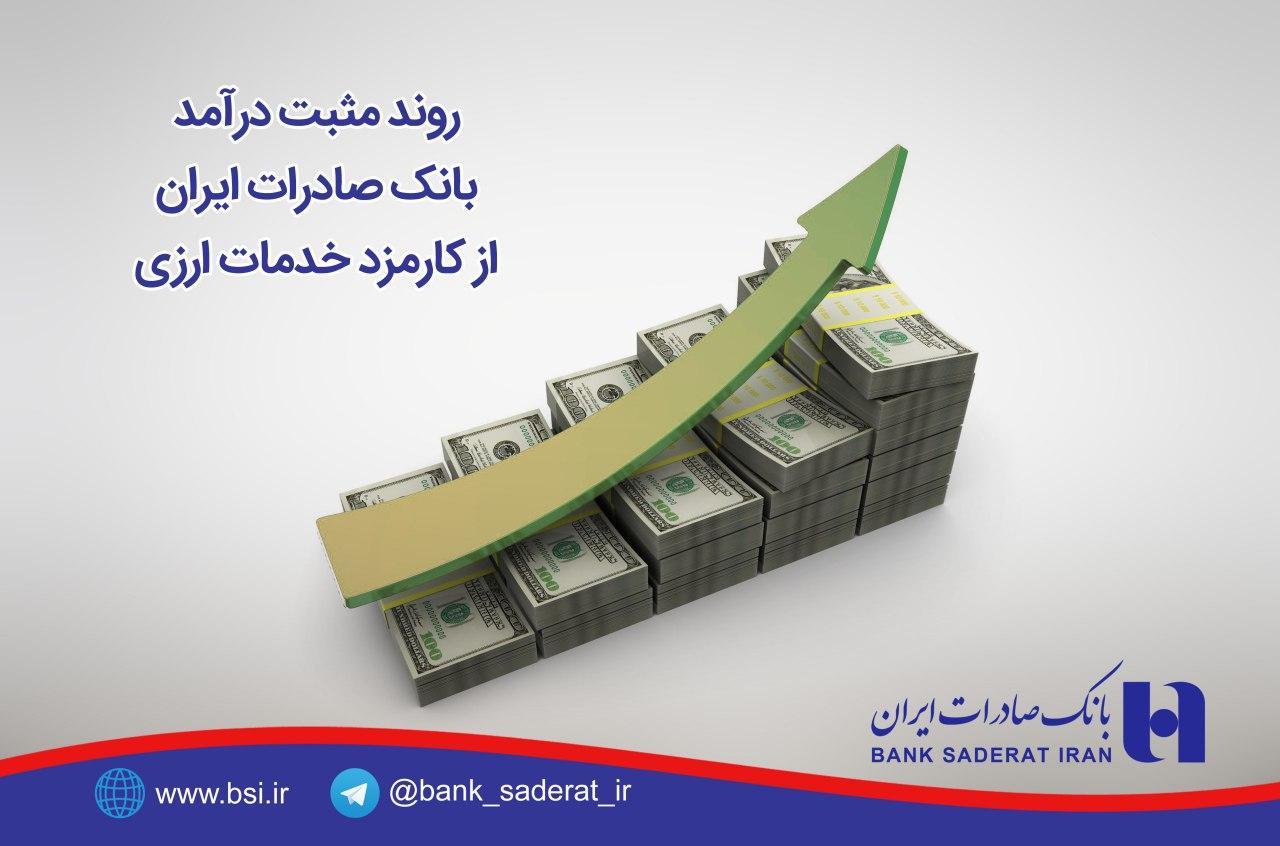 روند مثبت درآمد بانک صادرات از کارمزد خدمات ارزی