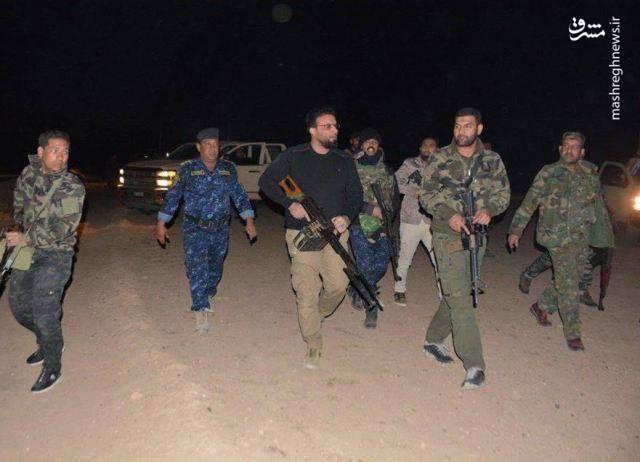 درگیری شبانه حشدالشعبی با داعش در سامرا (+عکس)