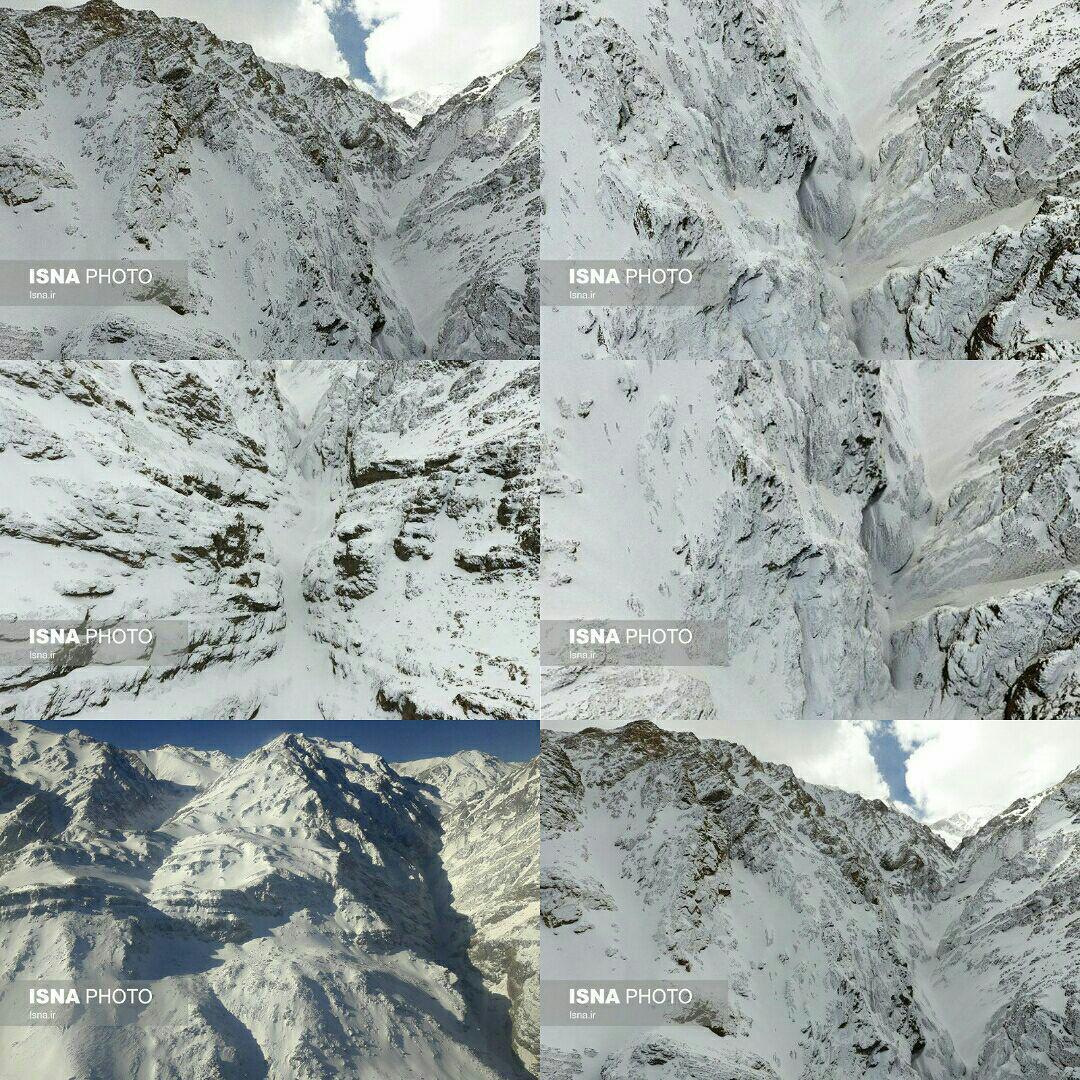 تصاویر هوایی محل احتمالی سقوط هواپیمایی تهران - یاسوج (عکس)