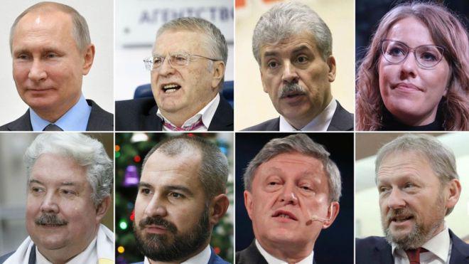 5 حزب مهم روسیه و نمایندگان آنها در انتخابات ریاست جمهوري