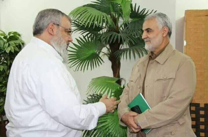 تصویری از دیدار سردار سلیمانی با دبیرکل حزبالله لبنان