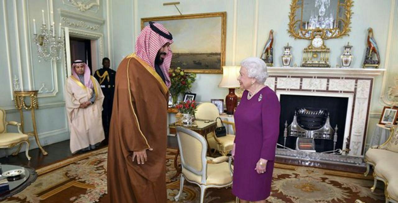 دیدار ولیعهد عربستان با ملکه بریتانیا (+عکس)