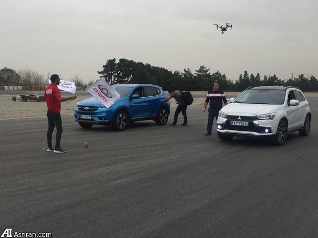 مسابقه شتاب چری تیگو7 با خودروهای اروپایی، کره ای و ژاپنی ( + عکس)
