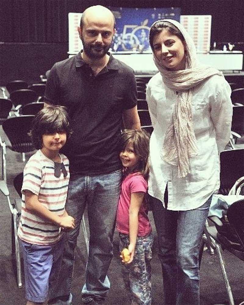لیلا حاتمی به همراه همسر و فرزندانش (عکس)