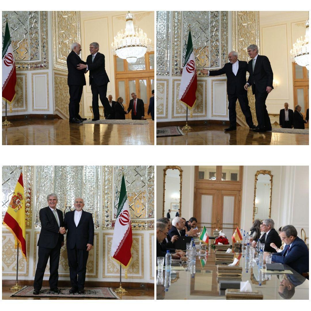 دیدار وزیرخارجه اسپانیا با ظریف (عکس)