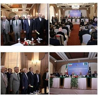 آغاز به کار نشست مشترک تجاری ایران و پاکستان با حضور ظریف و آصف