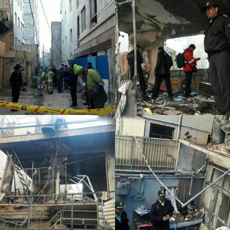 تخریب ساختمان دو طبقه در خیابان مرتضوی (عکس)