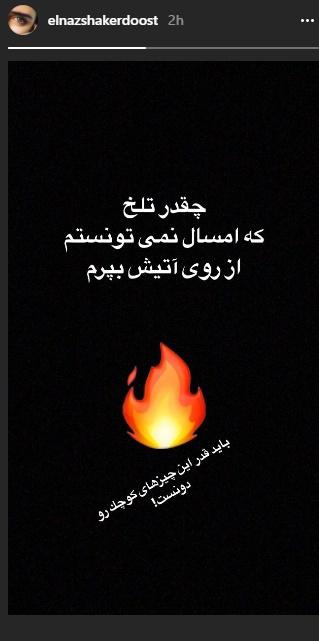 تلخی چهارشنبهسوری برای الناز شاکردوست (عکس)