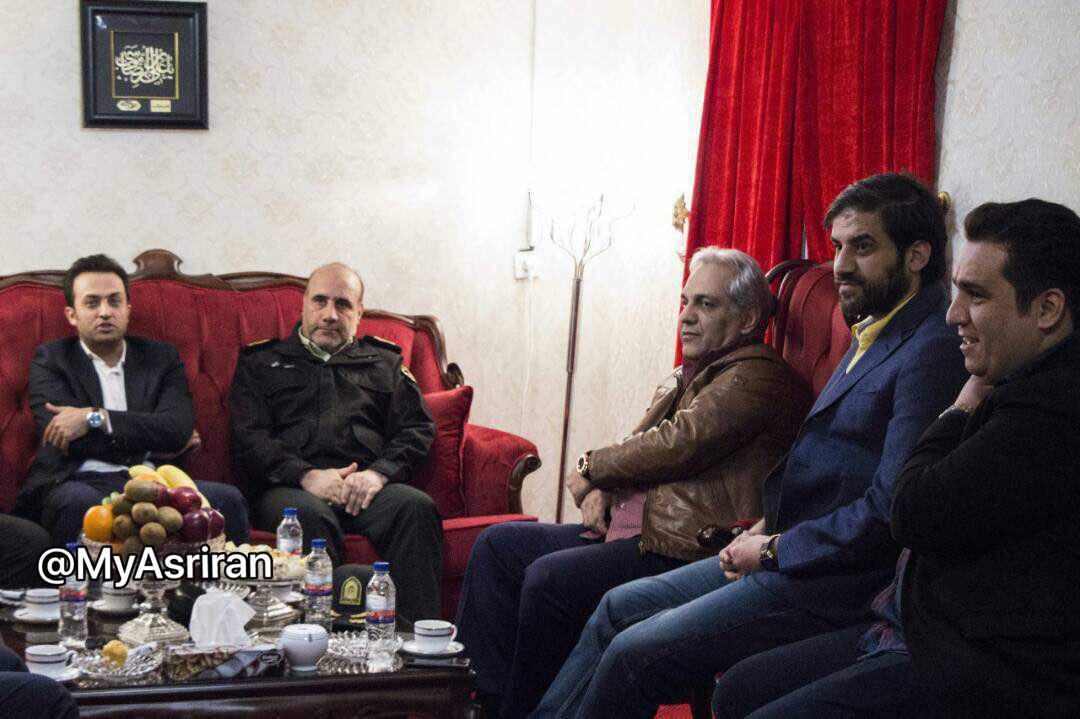 حضور سرزده رئیس پلیس تهران در برنامه «دورهمی» (+عکس)