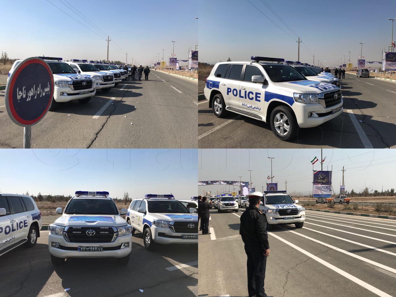 ورود لندکروزهای جدید به ناوگان پلیس راه کشور (عکس)