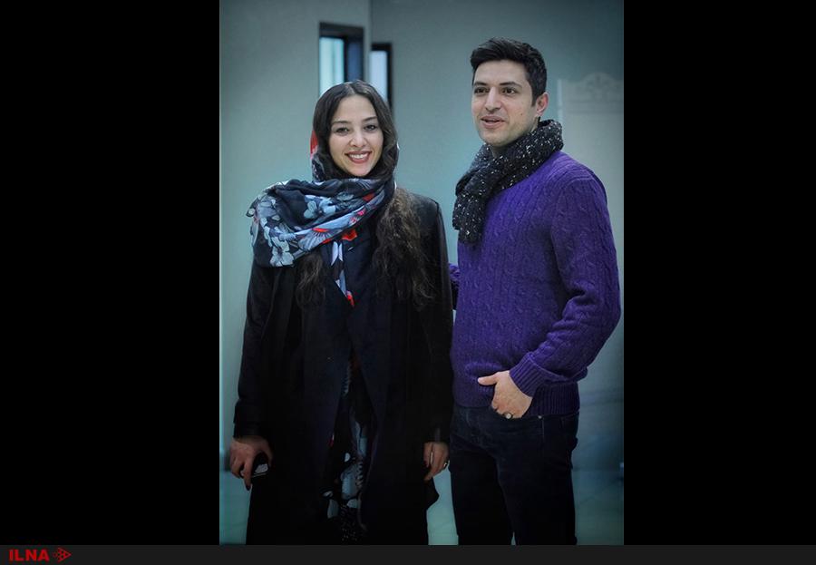اشکان خطیبی و همسرش در اکران مردمی یک فیلم سینمایی (+عکس)