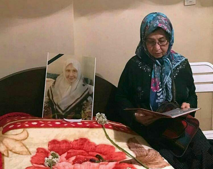 حضور زهرا رهنورد در منزل مادرش (عکس)