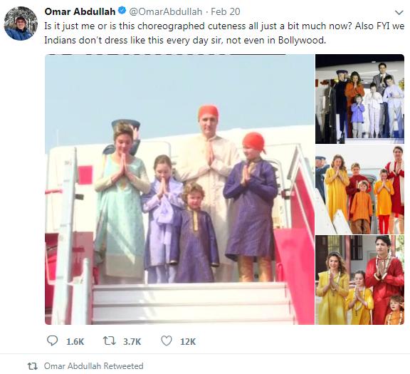 جنجال لباس های نخست وزیر کانادا در سفر به هند