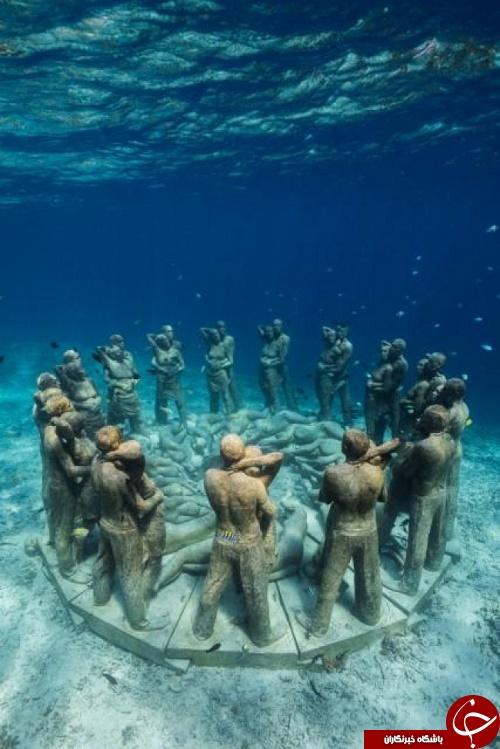 شگفت انگیزترین مجسمههای آبی دنیا در دل اقیانوس (+عکس)